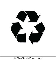 recycling symbol vector illustration Print