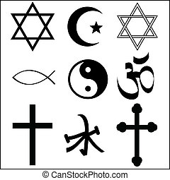 religious symbol - various religious symbol vector