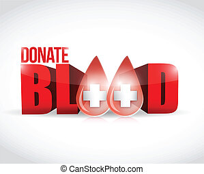donate blood illustration design over a white background