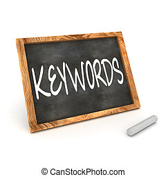 Blackboard Keywords - A Colourful 3d Rendered Concept...