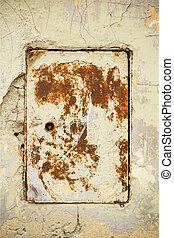 Old metal door with rust