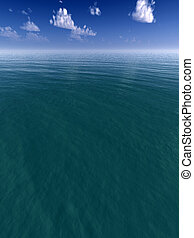 Water Landscape - An oceanic landscape with sky background.