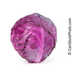 red cabbage isolated on white background