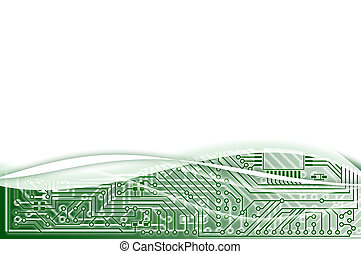 Electronic light green abstract background - Hi-tech...