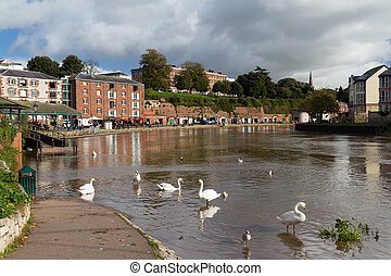 Exeter Devon England UK - Swanns at Exeter Quayside Devon...