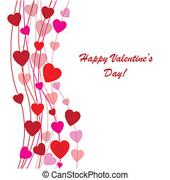 Valentine's background with many hearts - Valentine's...