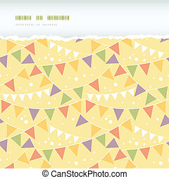 Party Decorations Bunting Horizontal Torn Seamless Pattern...