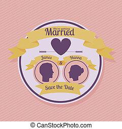 married design over background vector illustration
