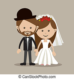 married design over beige  background vector illustration