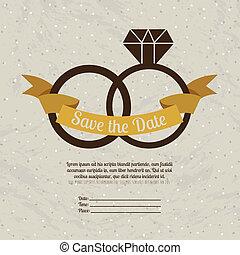 married design over beige background vector illustration