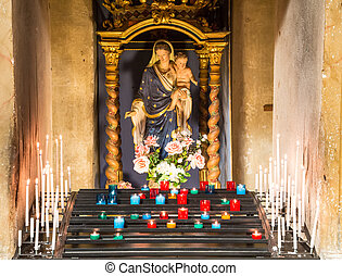 Candles in Catholic Church