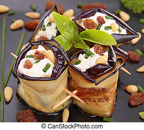 eggplant rolled with cheese