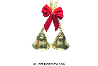 Real golden christmas bells bow - Real golden christmas...