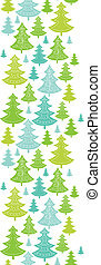 Holiday Christmas trees vertical seamless pattern background