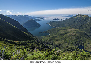 Mountains and ocean - Beautiful clear scenic view of Silver...