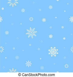 white snow pattern - White snow and light blue background...