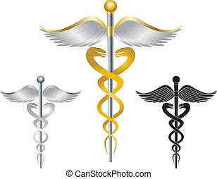 Caduceus Medical Symbol Illustration - Caduceus Medical...