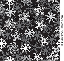 snow black pattern - Intense white snow dark background...