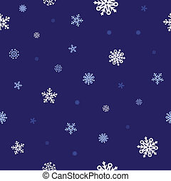 snow blue pattern - White snow and dark blue background...