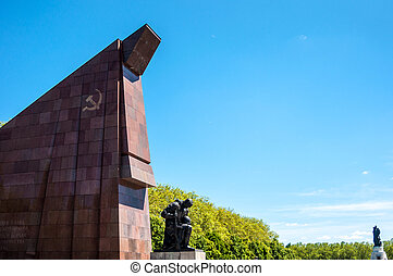 Soviet War Memorial in the Treptower Park in Berlin
