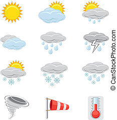 weather icon - A collection of icons that show different...