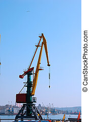 Crane in the port