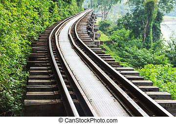 railway - Train the beautiful historic city of Kanchanaburi