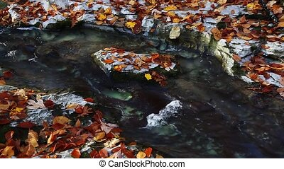 Autumn Channel Loop - Water flows through a channel it has...