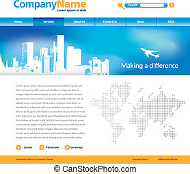 vector website template - Editable vector website template...