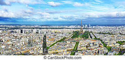 Panorama of Paris from the Montparnasse Tower....