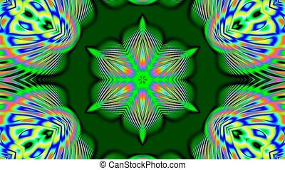 Colorful green kaleidoscope