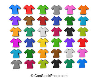 Colourful t-shirt icon background