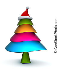 Colorful candy Christmas tree