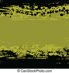 Grunge blots background - Yellow ink blots abstract...