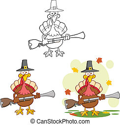 Pilgrim Turkey . Collection Set - Pilgrim Turkey Bird...