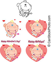 Cute Baby Cupid. Set Collection