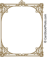 Ornamental frameborder - Vintage ornamental frameborder with...