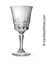 Wine glass isolated on a white background