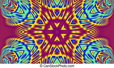 Purple blue and yellow kaleidoscope