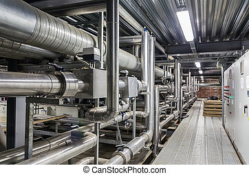 Building services in a building - Pipes and other building...
