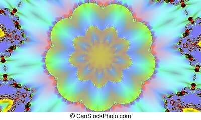 Yellow kaleidoscope motion background