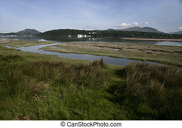 Traeth Bach Harlech - Traeth Bach estuary, Harlech Wales