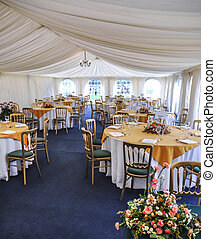 Marquee Seating - Marquee seating at a special event.