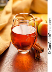 apple cider - Apple cider with cinnamon sticks