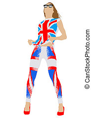 British flag - Vector drawing of dress colors of British...