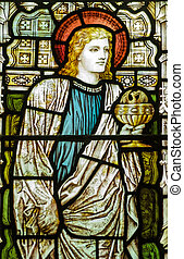 St John the Evangelist stained glas - Victorian stained...