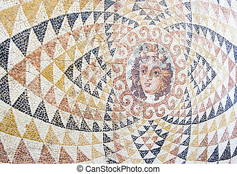greek mosaic - ancient mosaic discovered in greece