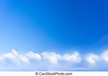 azul, céu, Nuvens