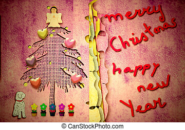 Cute christmas card with message