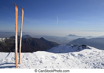 Back country ski on the top - Pair of back country ski on...